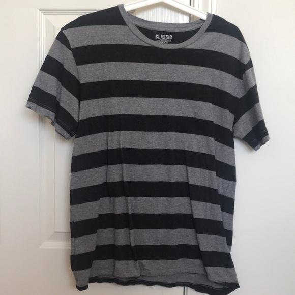 7091f85f4961 Old Navy Shirts | M Mens Grey Striped T Shirt | Poshmark